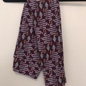 Lularoe OS purple snake leggings new without tags